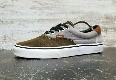 Vans Athletic Shoes Mens Sz 8.5 Gray Brown Used Sneakers Trainers Classic