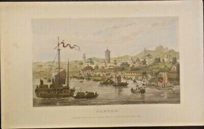Extremely Rare Photograph Of Paternoster Row China 1838 Genuine Frameable