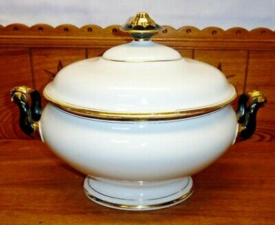 Antique Old Paris Porcelain Covered Dish / Tureen - HAIRLINE