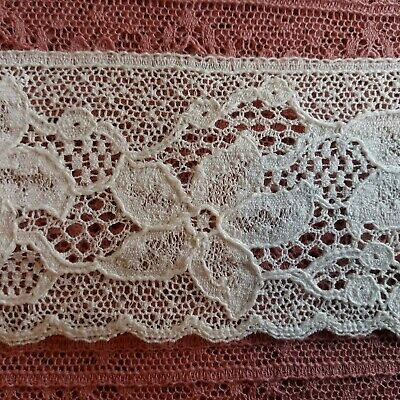 produced in Nottingham 3mtrs of 2inch Flat Cream Lace design 1