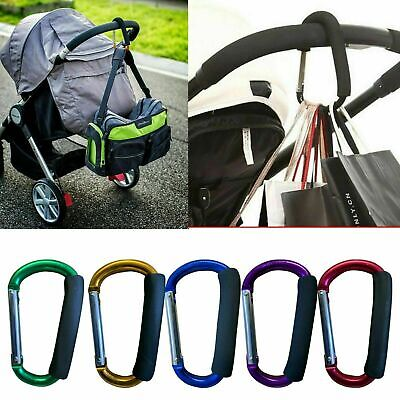 Buggy Clips X2 Colored  Pram Pushchair Shopping Bag Hook  Carry Clip