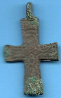 Ancient Viking Scandinavian Bronze Cross Kiev Russia Ukraine 1100 Byzantine 42