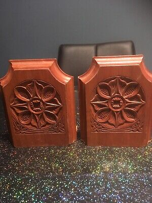 Antique Arts& Crafts Wooden Bookends