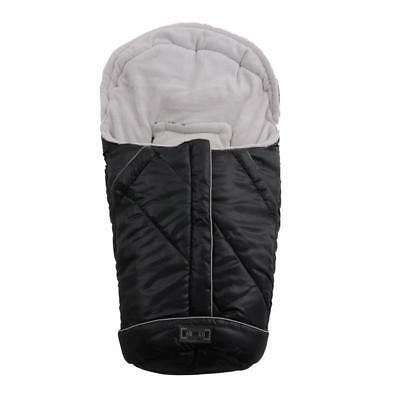 Winter-Fußsack with Warm Fleece for Carry Cot & Carrycot Black-Grey New