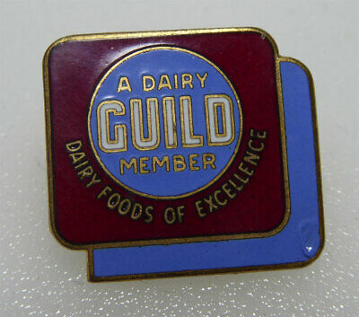 Enamel A DAIRY GUILD MEMBER Pin Dairy Foods of Excellence Screwback