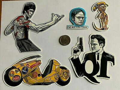 Tyler Stout Stickers Bruce Lee & More Set Of 5 Misc Stickers Rare Excl Set B