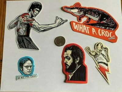 Tyler Stout Stickers Bruce Lee & More Set Of 5 Misc Stickers Rare Excl Set E