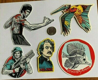 Tyler Stout Stickers Bruce Lee & More Set Of 5 Misc Stickers Rare Excl Set F