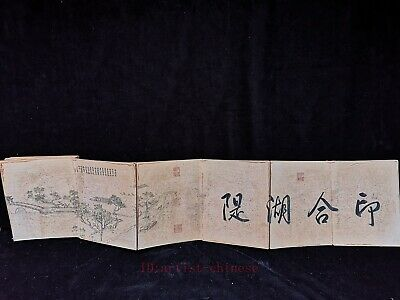Collection Chinese Figure Hard Skin Old Books Landscape Calligraphy Paintings
