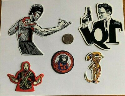 Tyler Stout Stickers Bruce Lee & More Set Of 5 Misc Stickers Rare Excl Set G