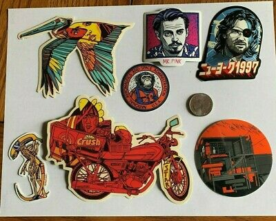 Tyler Stout Stickers Crush Alien & More Set Of 7 Misc Stickers Rare Excl Set L