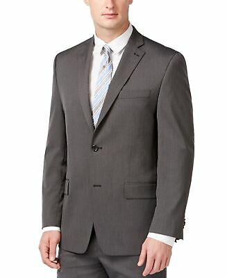Michael Kors Mens Blazer Gray Size 38 Two Button Notched Collar $450 #255