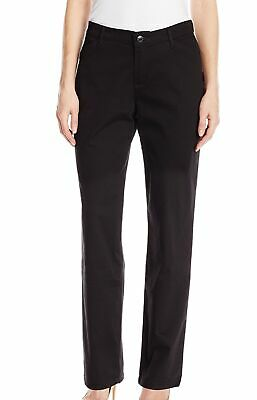 Lee Womens Pants Black Size 12 Petite Straight Leg Relaxed Stretch $48 087