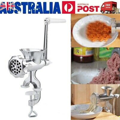 Meat Grinder Mincer Stuffer Hand Manual Sausage Filler Sauce Maker Machine AU