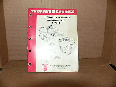 Tecumseh  Mechanics Handbook for overhead valve engines