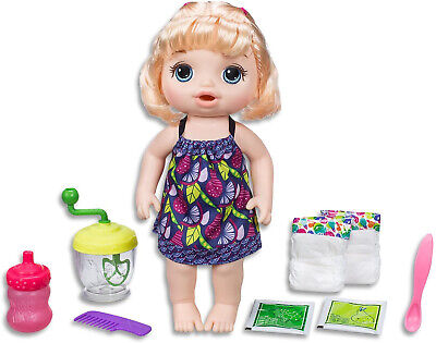 Baby Alive Dolls Blonde Baby Girl Interactive Kids Toys Sweet Spoonfuls