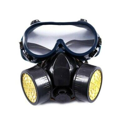 1PC Protection Filter Mask Dust Respirator Nose Mouth Cover Mask with Goggles