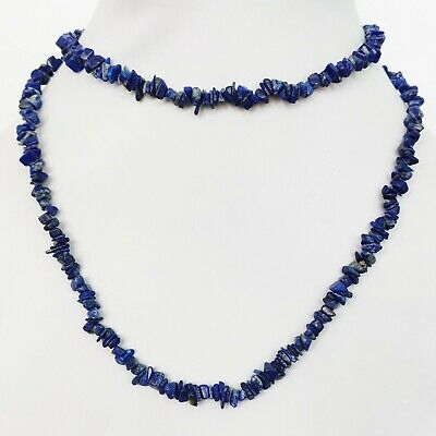 Lapis Lazulli Natural Gemstone Freeform Chips Nugget Beads AAA+ Quality Strand A