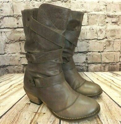 Womens Dorothy Perkins Light Brown Leather Mid Calf Boots UK 5 EUR 38