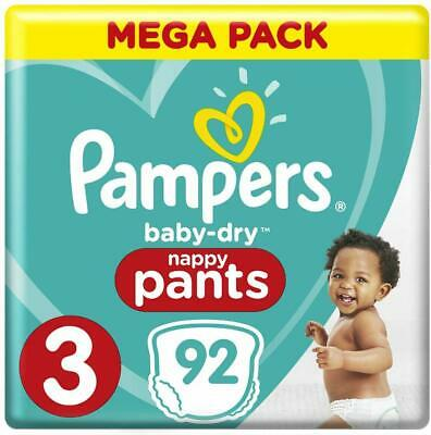 Pampers Baby-Dry Nappy Pants Size 3 Crawler 6kg-10kg 92 Nappy Pants Mega Pack