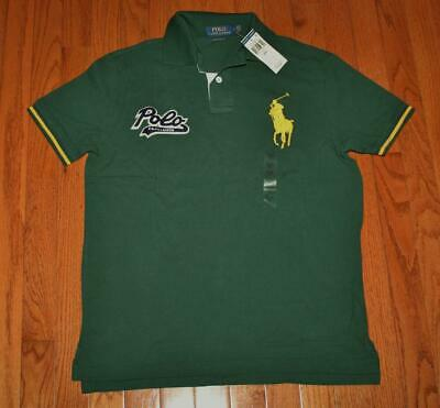 NWT Mens Polo Ralph Lauren Custom SLIM Fit Polo Shirt BIG PONY & SCRIPT LOGO *1B