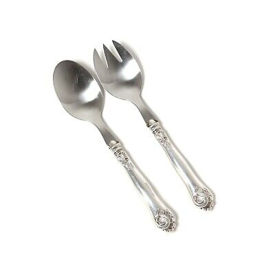 Serving spoon and fork with silver handles. Denmark, year 1941, Carl M. Cohr