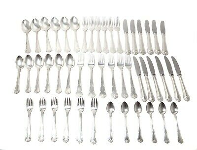 "Silver cutlery set for 6 people, 48 items. ""Herregaard"", Denmark, Carl M. Cohr"