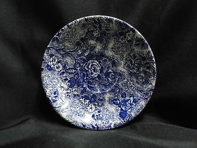 """Laura Ashley Chintzware Blue, Blue Flowers: Saucer Only, 5 3/4"""", Crazing"""