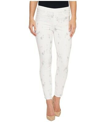 Tribal Womens Pants Gray White Size 14 High-Rise Printed Stretch Twill $60 664