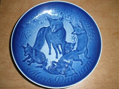1979 Bing /& Grondahl Mothers Day Plate Fox and Cubs