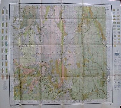 Folded Color Soil Survey Map Trumbull County Ohio Warren Niles Hubbard Cortland