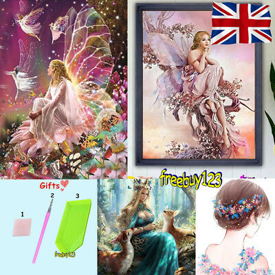DIY 5D Diamond Painting Crystal Rhinestone Embroidery Pictures Arts Fairy Queen#