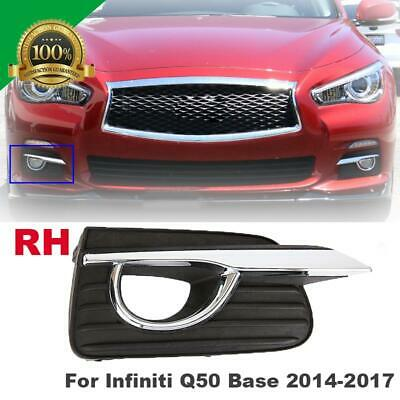 Fog Light Cover For Infiniti Q50 Sport 14-17 Foglamp Bezels Driver Passenger L R
