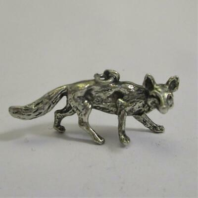 German Or Austrian Silver Fox Figure Pendant Antique Victorian c.1890. tbj0523.s