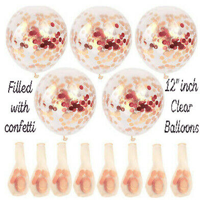 "10-100 pcs 12/"" Latex Balloons Rose Gold Helium Birthday Wedding Hen Party"