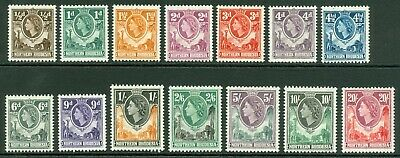 SG 61-74 Northern Rhodesia 1953. ½d to 20/-. Lightly mounted mint set of 14...