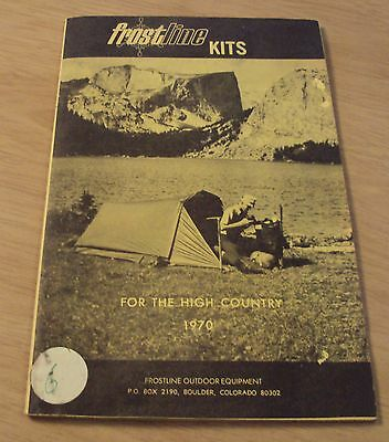 "RARE 1970 Advertising Catalog~""FROSTLINE KITS""~High Country Gear~Backpacking~"