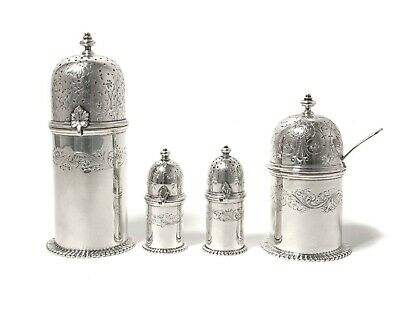 Silver set for spices, 5 items.  Denmark (Was imported to Sweden).