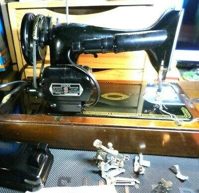 very nice original condition Semi-Industrial Singer 99K electric Sewing Machine