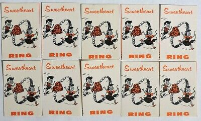 ESAR4658. VINTAGE 10 SWEETHEART RING Vending Machine Ad Pieces (1960's)