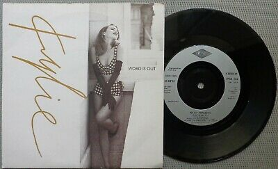 """KYLIE MINOGUE 'Word Is Out' 1991 French export 7"""" / 45 vinyl single"""