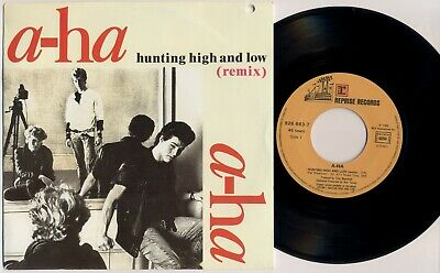 """A-HA 'Hunting High And Low' 1986 French 7"""" / 45 vinyl single - AHA"""