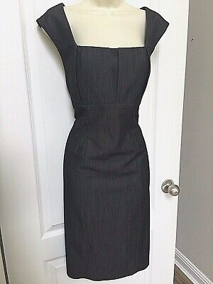 Calvin Klein Woman's Dark Charcoal Gray Sleeveless Dress Size 12