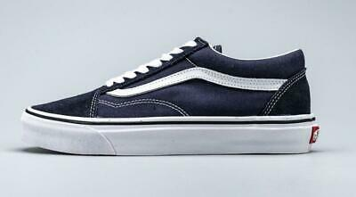 New Vans Old Skool Classic Canvas/Suede Navy & White Skate Shoes/Sneakers