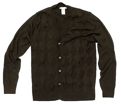 Gap Mens Size Small Italian Merino Wool Button-Up Long Sleeve Sweater