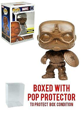 Funko Pop! Entertainment Earth Exclusive : Wood Deco Captain America #584
