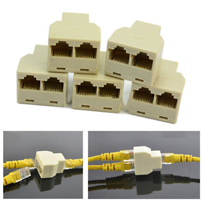 RJ45 1 to 2 LAN ethernet Network Cable Splitter Extender Plug adapter Tool NEW-