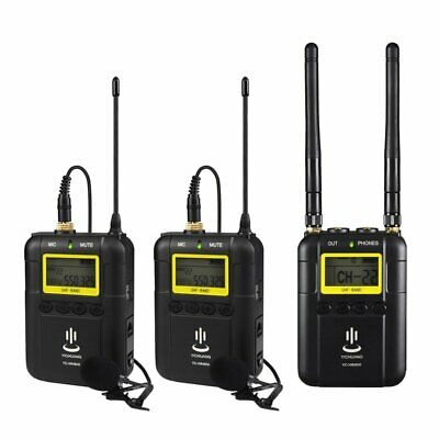 YICHUANG YC-WM800 2-Channel UHF Wireless Video Recording Microphone For Camera