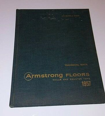 1957 Armstrong Tile Technical Data Catalog ASBESTOS Architecture Floors