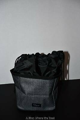 Thirty One Cinch Up Bin in Charcoal Crosshatch NWT